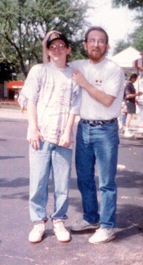 At Six Flags over Texas with my kid brother in 1993