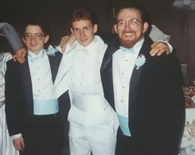 At my little brother's wedding, Dec 1994