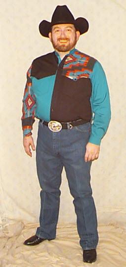 1999.10.30 Progress photo of me in cowboy gear