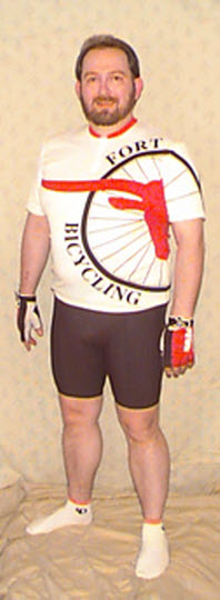 1999.10.30 Progress photo of me in cycling gear