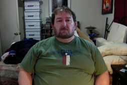 2014.07.26 Me at my computer - My heaviest weight