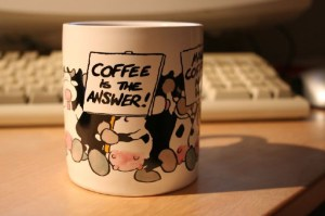 Coffee cup with funny caption ©