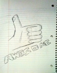 Awesome Thumbs Up Sketch (CC)