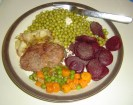Plate of food with small fork ©2012