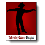 TxCowboyDancer Designs Logo with shadow ©2012