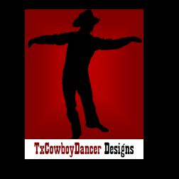 TxCowboyDancer Designs Logo with shadow ©2012