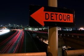 Detour Sign (CC)