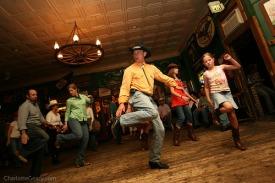 Line Dancers at a Cowboy Themed Wedding