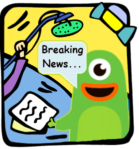 "Squidoo Monster Newscaster Announces ""Breaking News"""