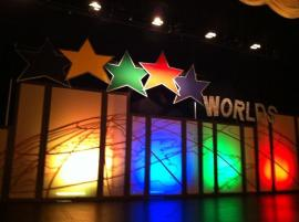 Backdrop on the stage at Worlds 2013