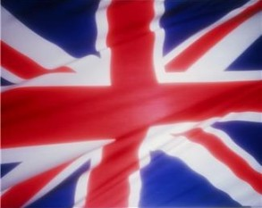 Closeup of the English Flag - The Union Jack