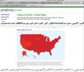 Google Flu Trends map