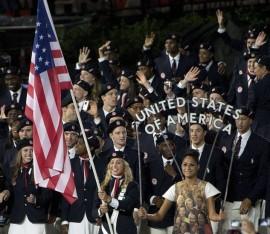Opening Ceremony London Olympics 2012 USA Entry into stadium