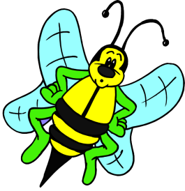 Cartoon Bee - Busy Bee