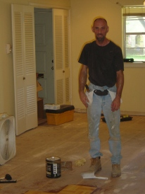 My friend Steve working on my old house