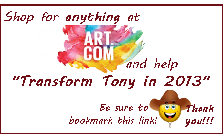 Shop for anything at ART.com and help Transform Tony in 2013