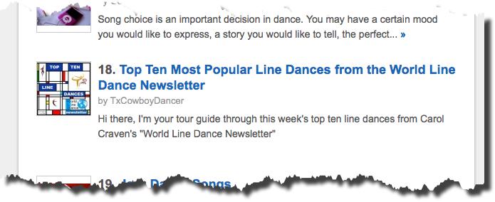 Fifteen of my Squidoo Articles are in the Top 100 Dance Lenses! (6/6)