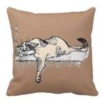 Coffee Kitty Throw Pillow