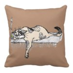 Coffee Kitty Throw Pillow