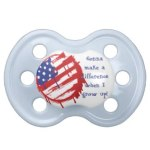 Grunge American Flag Baby Pacifieravailable at TxCowboyDancer Designs
