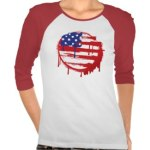 Grunge American Flag Long Sleeved T-shirtavailable at TxCowboyDancer Designs