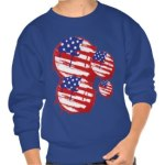 Grunge American Flag Sweatshirt available at TxCowboyDancer Designs