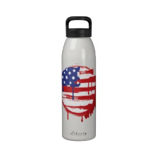 Grunge American Flag Water Bottle available at TxCowboyDancer Designs