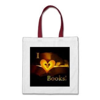 I Love Books - I Heart Books bag