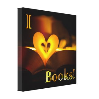 I Love Books - I Heart Books canvas