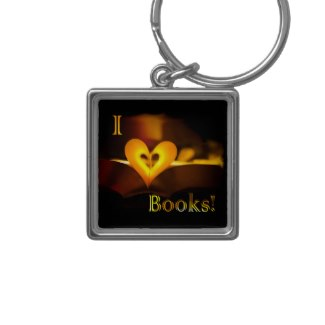 I Love Books - I Heart Books keychain