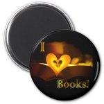 I Love Books - I Heart Books magnet