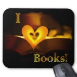 I Love Books - I Heart Books mousepad
