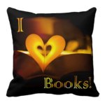 I Love Books - I Heart Books pillow