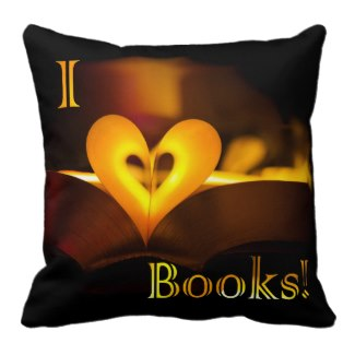 I Love Books - I Heart Books pillow