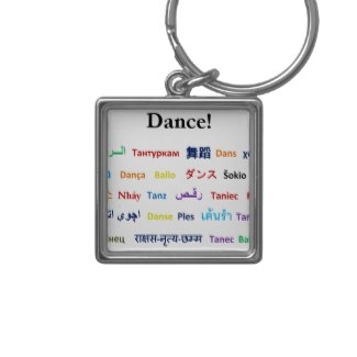 Language of Dance Key Chain