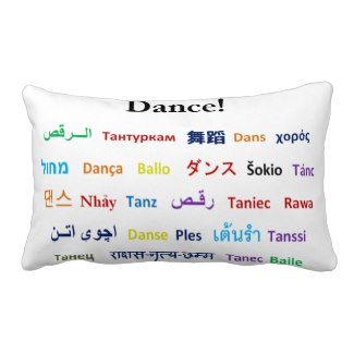 Language of Dance Throw Pillow