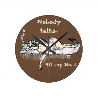 Nobody talks until cup No. 4