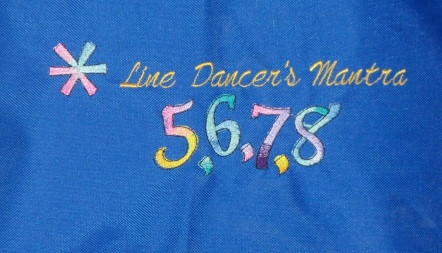 Closeup of the embrodery