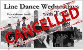 Line Dance Wednesdays with Tony in Dallas CANCELLED