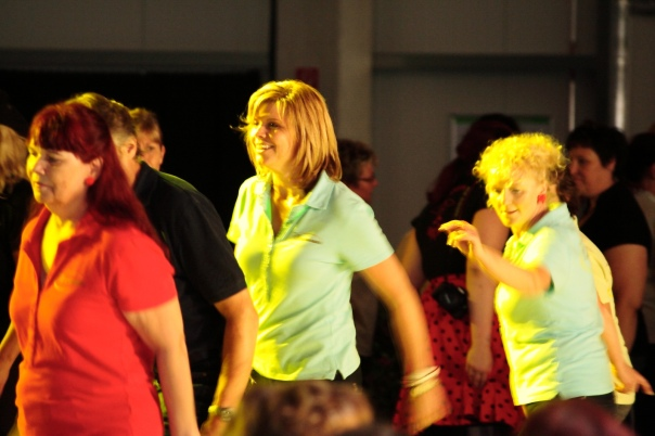 Line Dancers Having Fun