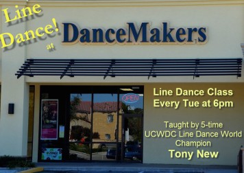 Line Dance at DanceMakers of Texas