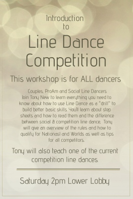 Introduction to Line Dance flyer for Lone star